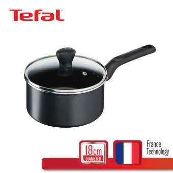 Tefal หม้อด้าม Everyday Cooking พร้อมฝาแก้ว ขนาด 18 ซม. รุ่น C5732395 หม้อด้าม หม้อด้ามญี่ปุ่น หม้อ หม้อพร้อมฝา ฝาแก้ว Pot เครื่องครัว อุปกรณ์ประกอบอาหาร cookware Kitchen หม้อต้ม หม้อTefal