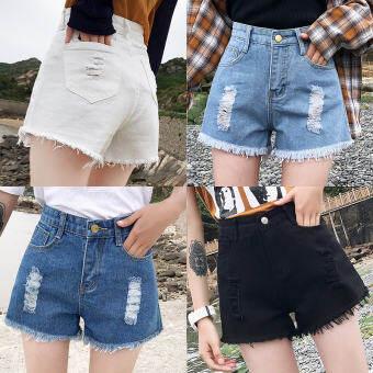 กงยีนส์ผู้หญิง ขาสั้น กางเกงขาสั้น กางเกงขาสั้นผญ เอวสูง กางเกงขาสั้นผู้หญิงใส่สบาย กระเป๋าล้วง  คุณภาพเกินราคา