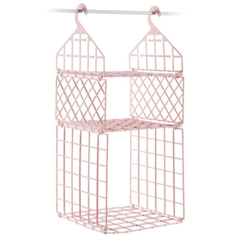 Bedroom Wardrobe Organizer Underwear Clothes Storage Rack Cupboard Closet Hanging Basket Hooks Shelf