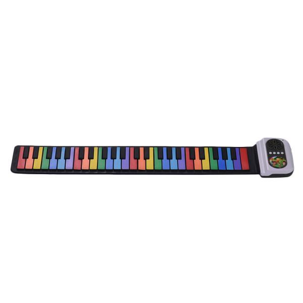 Đàn Piano Cuộn Di Động 49 Phím Bàn Phím Điện Tử Silicon Loa Tích Hợp Phím Nhiều Màu Sắc Đồ Chơi Âm Nhạc Cho Trẻ Em
