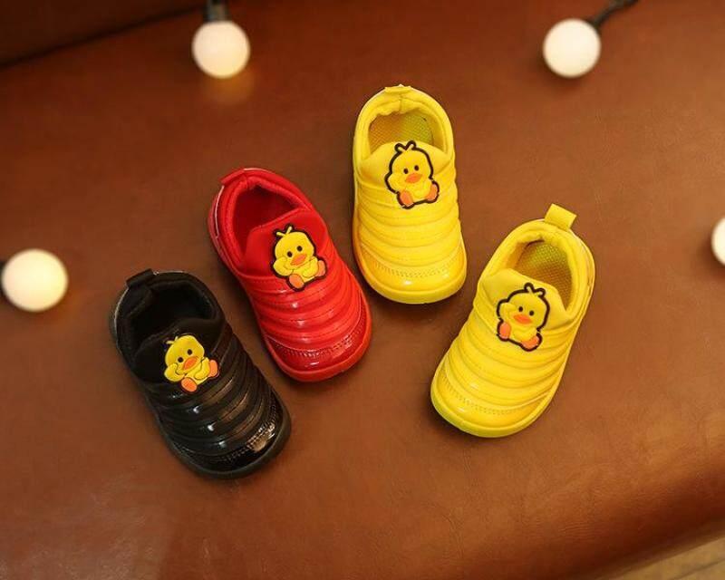 2019 ใหม่ caterpillar เด็กชายและเด็กหญิงเท้ารองเท้าเด็กด้านล่างนุ่มรองเท้าเด็กอายุ 1-3 ปีรองเท้ากีฬา