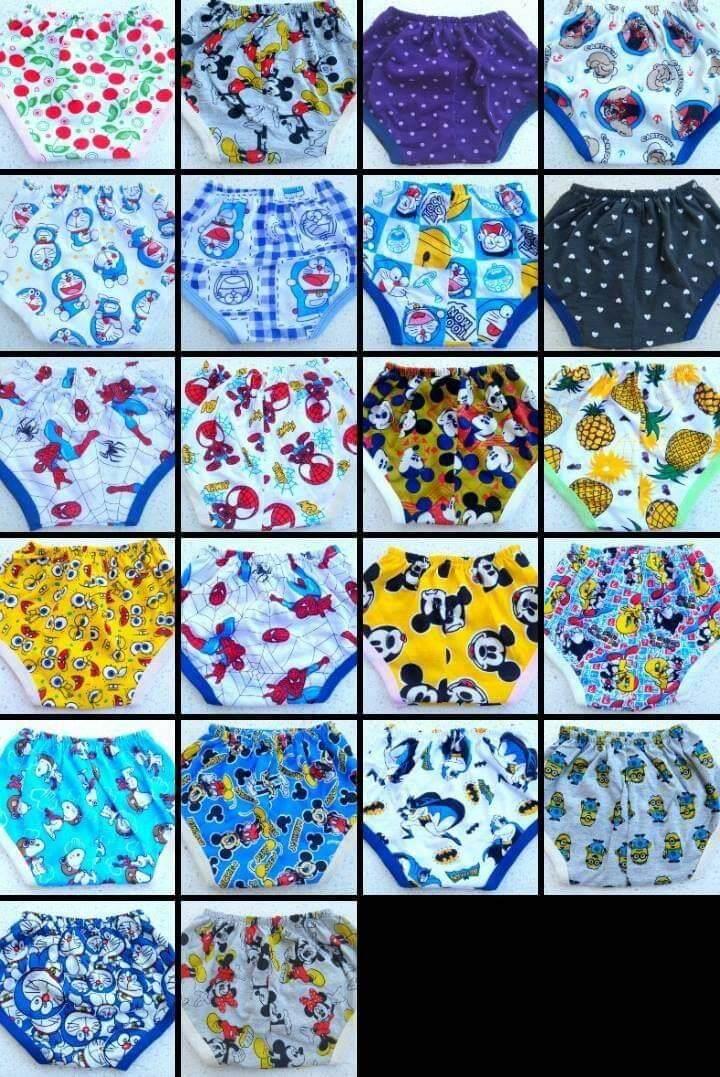 กางเกงใน เด็กผ้าคอตตอน ผ้าสเปนเด็กซ์นิ่ม เอว 14นิ้วยืดได้ถึง 24 นิ้วใส่แพมเพิทตุงก้นกำลังสวย  (ร้านจัดคละใส่ ระบุชาย หญิง  ) 2ตัว