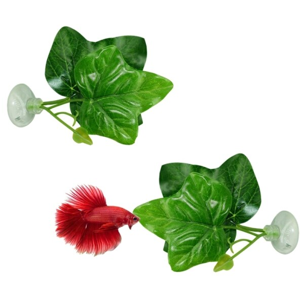 2 Pack Betta Fish Leaf Pad - Improves BettaS Health By Simulating The Natural Habitat( Double Leaf Design, One Big And One Small )