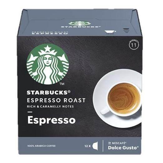 Starbucks Espresso Roast Coffee Pod By Dolce Gusto (uk Imported) สตาร์บัค เอสเพรสโซ่ กาแฟคั่วบด 8.5g. X 12capsules.