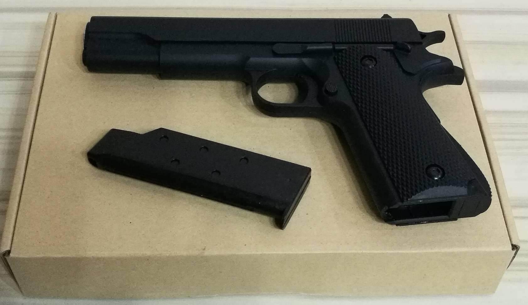 ปืนอัดลม Gun 1911a3 แอร์ซอฟ พร้อมลูก Bb By Power Gun.