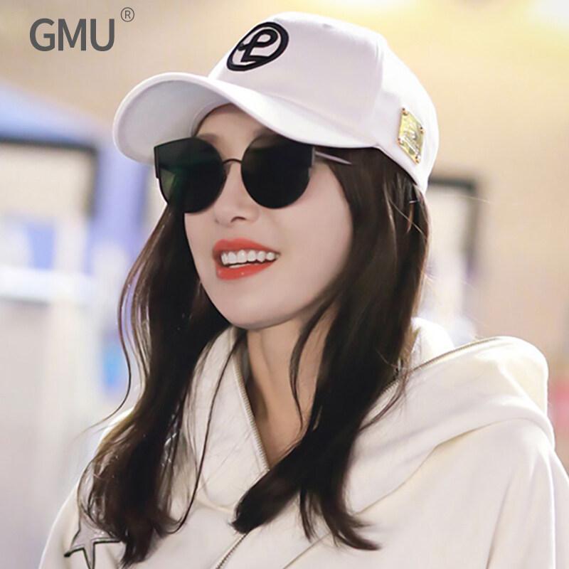 จีเอ็มแว่นกันแดดแว่นตาแฟชั่นเกาหลีหญิงคลื่นเล็ก ๆ น้อย ๆ ใบหน้าแฟชั่นย้อนยุคตาข่ายแว่นกันแดดสีแดงแมวตา.