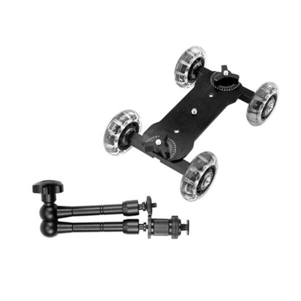 Giá Mobile Sliding Stabilizer 11-Inch Articulated Magic Arm Camera Track Bracket Photography Camera with Bracket