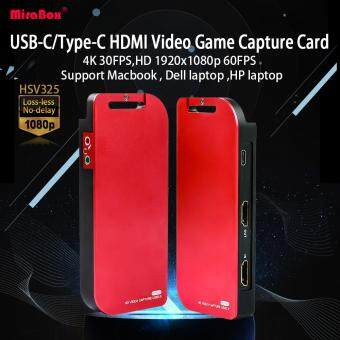 MiraBox Capture Card, USB-C/Type-C HDMI Video Game Capture Card ,4K  30FPS,HD 1920x1080p 60FPS, with Mic Input and HDMI Passthrough for PS3/ PS4  Xbox