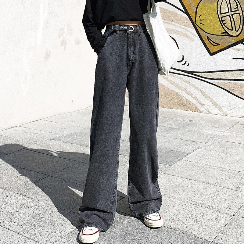 แฟชั่น กางเกงยีนส์ ผญ กางเกงยีนส์ทรงกระบอก Jeans Women.