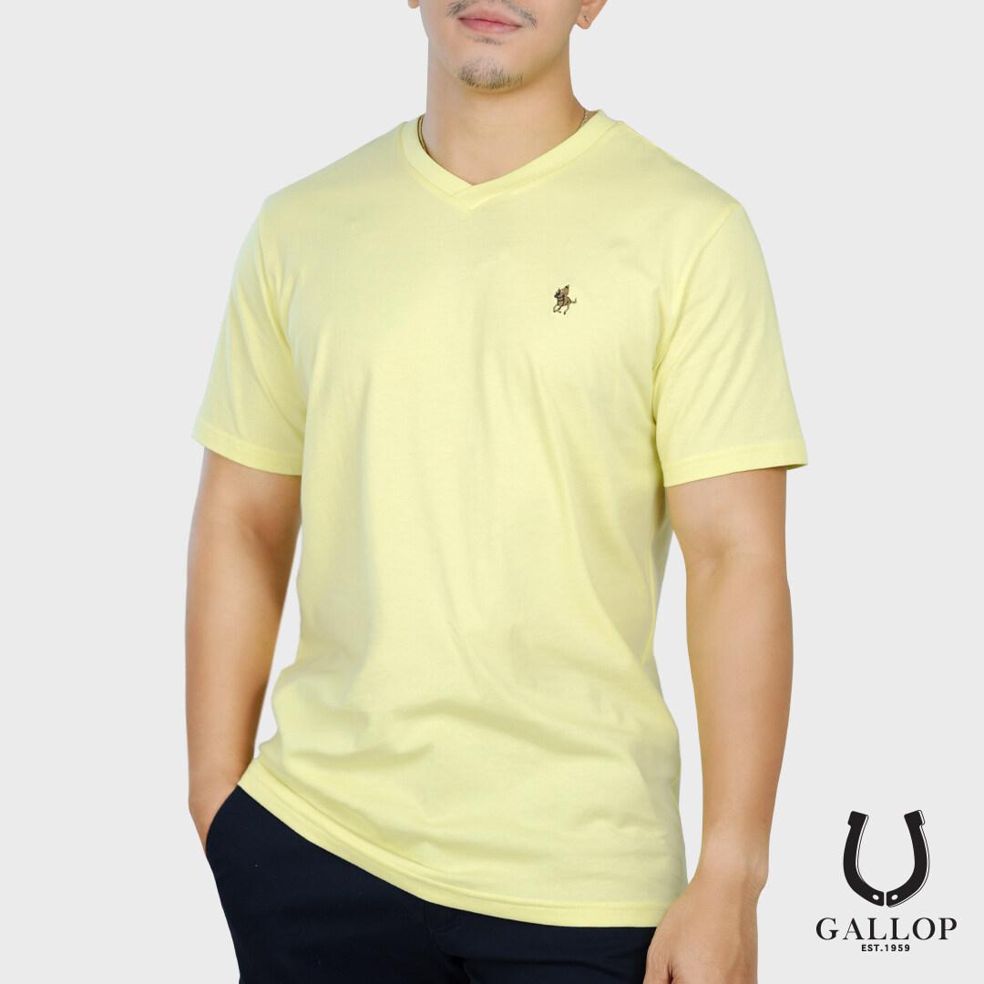 Gallop : เสื้อยืดคอวี Basic -T-Shirt (v-Necked) รุ่น Gnp9001 มี 3 สี / ราคา 590.-.