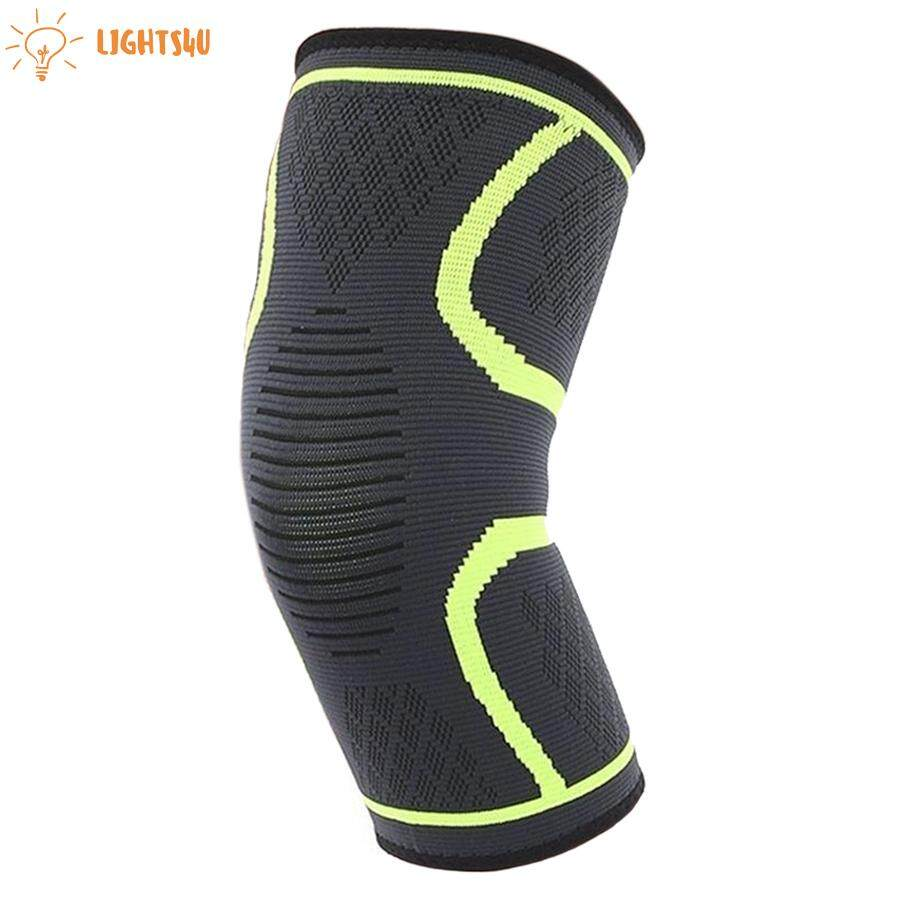 Lights4u สนับเข่ายางยืด ฟิตเนส วิ่ง ขี่จักรยาน สนับเข่ากีฬา แผ่นพยุงเข่ายางยืด สนับเข่า สำหรับบาสเก็ตบอล วอลเลย์บอล สนับเข่านิรภัย (1ชิ้น).