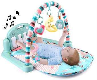 CUTE BABY เพลยิมเปียโน เพลยิมเปียโนของเล่นเสริมพัฒนาการเด็ก มีไฟ มีเสียงดนตรี ของใช้เด็กอ่อน ของเล่นเด็ก-