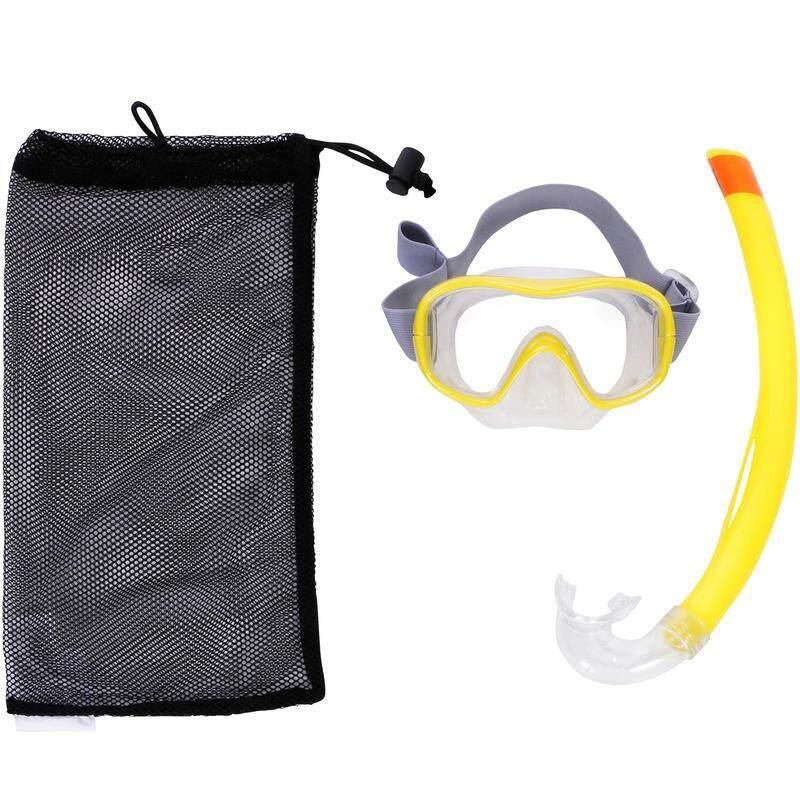 ((รับประกันสินค้าคุณภาพ))หน้ากากดำน้ำ ท่อหายใจ ชุดหน้ากากดำน้ำพร้อมท่อหายใจ รุ่น 500 (สีเหลือง)
