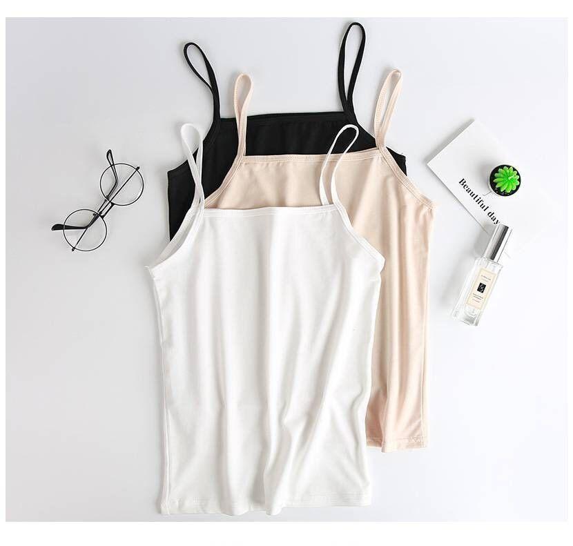 (เก็บโค้ด 3 ชิ้นส่งฟรี) เสื้อซับใน ซับในผ้านิ่ม สายเดี่ยว บังทรง 3 สี L, Xl, 2xl, 3xl ไซส์ใหญ่ สาวอวบ Plus Size Tank Top.