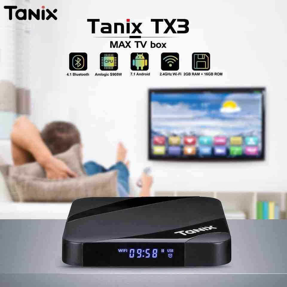 ยี่ห้อนี้ดีไหม  พระนครศรีอยุธยา 【Tanix】 TX3 Max TV Box Android 7.1 Bluetooth 4.1 Amlogic S905W 2GB RAM 16GB ROM Set Top Box 2.4GHz WiFi 4K Media Player