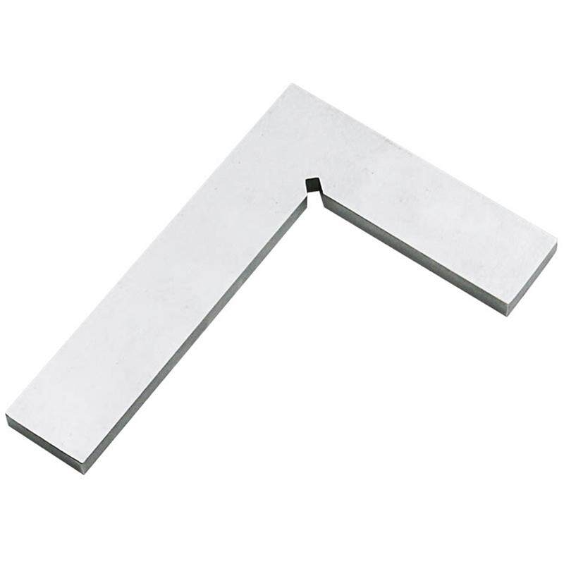 Silver Metal Steel 100 X 63Mm L Square Ruler Trial Square Ruler
