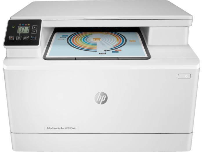 Hp Color Laserjet Pro Mfp M180n Printer (t6b70a) - Print, Copy, Scan, Lan - เครื่องพิมพ์เลเซอร์มัลติฟังก์ชั่น พิมพ์สี.