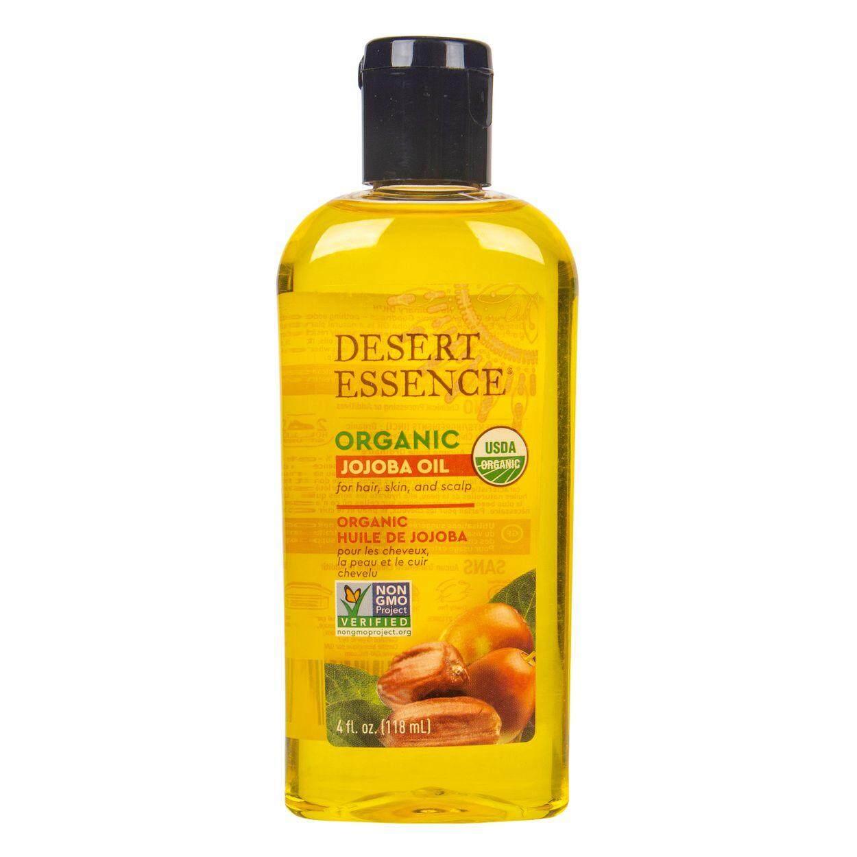 Desert Essence Organic Jojoba Oil for Hair, Skin & Scalp 4 oz (120 ml)
