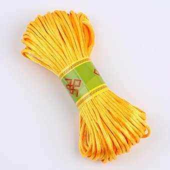 งานฝีมือ DIY เชือกถักสายถักเชือกแดง 5 6 7 โบว์จีนวัสดุ 20 เมตร Sevev Colours เชือกแขวนหยกเชือกเส้น