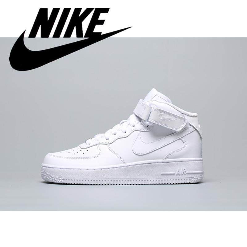 NIKE_AIR FORCE 1 Classic Men's Skate Shoes Women's Sneakers Unisex sneakers Nike_shoes Increased Height Comfort White 36-45