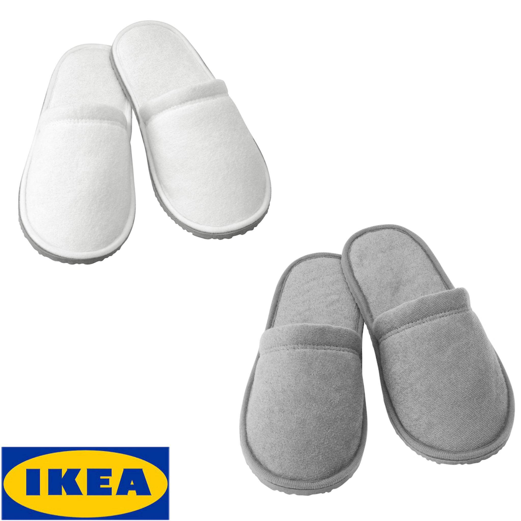 Ikea ของแท้ TÅsjÖn ทัวเควิน รองเท้าเดินในบ้าน, ขาว,เทา ขนาด S/m,l/xl.
