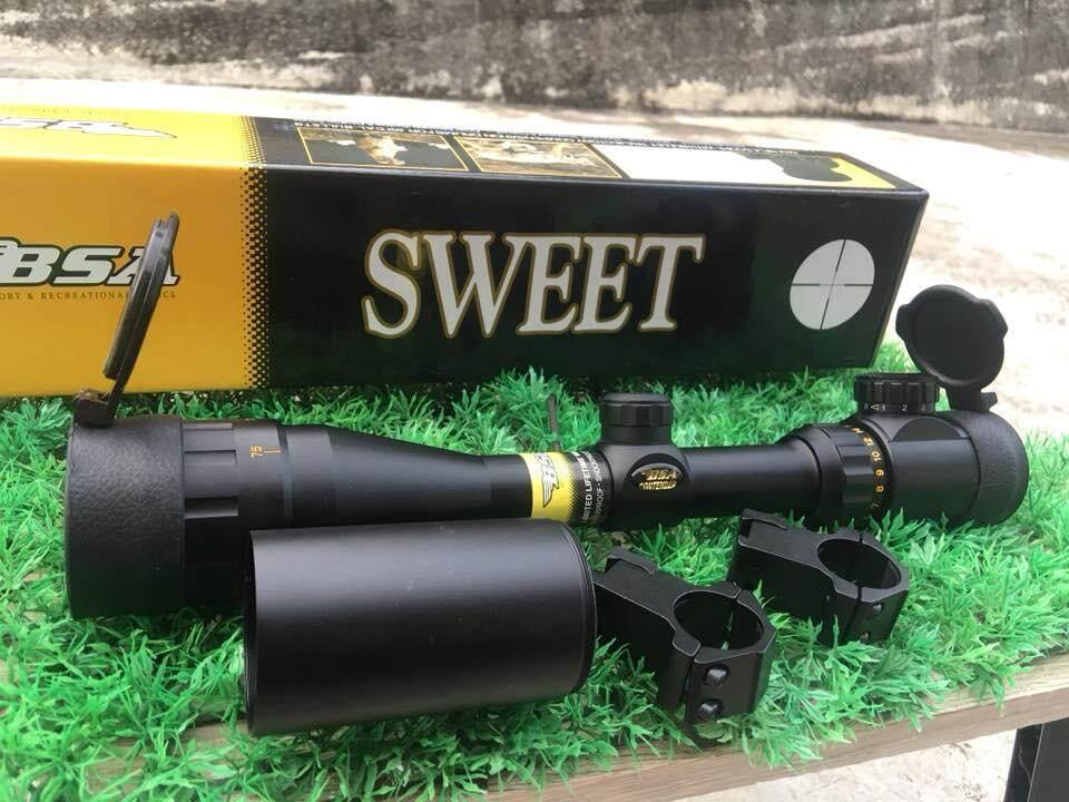 เลนส์ลำกล้องติดปืนไรเฟิ่ลแท้ Bsa Black Powder 3-9x40 E Lamp Rifle Scope ขนาด3-9 X 40 Mm กำลังขยาย 3-12 เท่าระยะหวังผล 120 หลา By Gotgottwo1986.