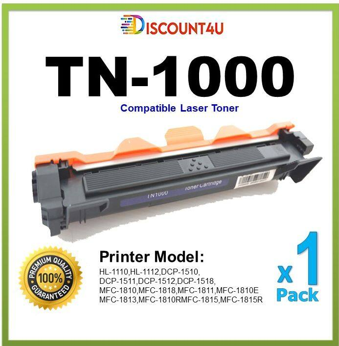 Discount4u .. ใช้สำหรับรุ่น Tn1000 For Brother Hl-1110/hl-1111/hl-1210w/ Dcp-1510/dcp-1511/mfc-1810/mfc-1811/mfc-1815/mfc-1910w.