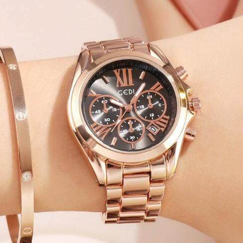นาฬิกาข้อมือ Gedi Women Fashion Watchesรุ่น H-2986 ของแท้ แถมฟรีกล่อง นาฬิกาแฟชั่น R-028 พร้อมส่ง (มีเก็บเงินปลายทาง) By Riches.lzd.