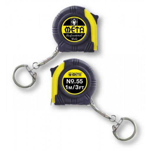 ตลับเมตร มีพวงกุญแจ No.55 META ขนาด 1m x 6mm. 080274 ...