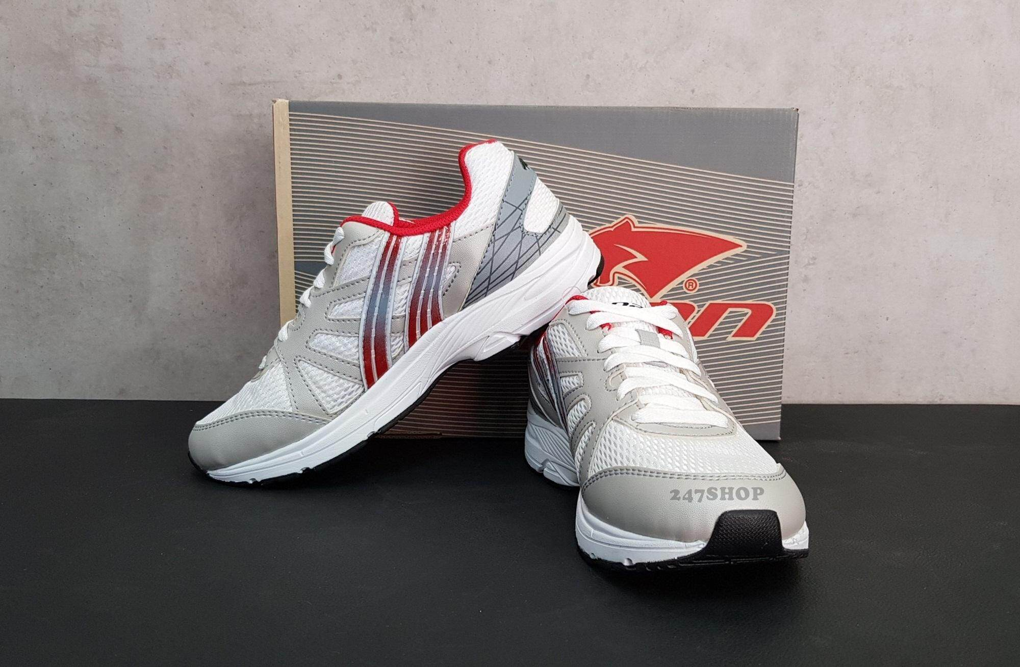 PAN RUNDAY 5 SILVER/RED รองเท้าวิ่งแพน PF-16M1-SW รองเท้าผ้าใบ