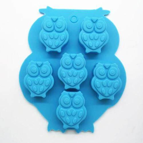 6 Even Mini Owl Silicone Mould Chocolate Mold Turn Sugar Mode By Taobao Collection.