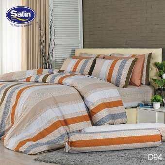 Satin ผ้าปูที่นอน (5 ฟุต และ 6 ฟุต)  ลาย Classic (ไม่รวมผ้านวม)-