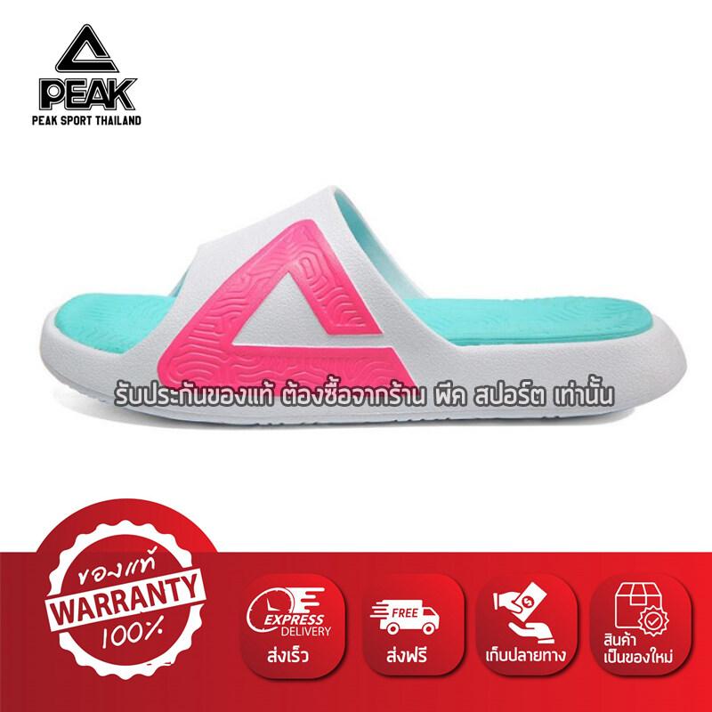 PEAK รองเท้า แตะ กีฬา เพื่อสุขภาพเท้า Sandal Slipper Shoe Sport Taichi พีค รุ่น E92037L White/Rose