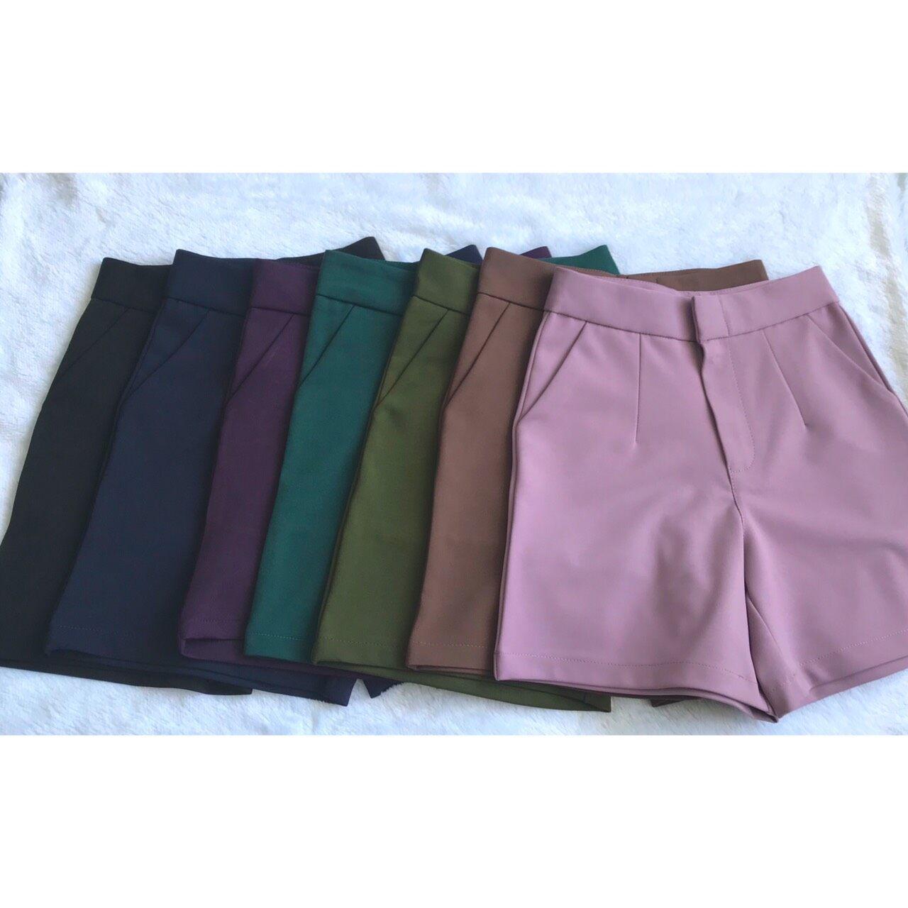 Ohoskirt กางเกงขาสั้น กางเกงซิปหน้า กางเกงผ้าโรเชฟ 004-82/004-83 / 004-84 /004-80 /004-87/004-88/004-85/004-81/004-86.
