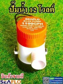 ปั๊มน้ำโซล่าเซลล์แบบแช่ 12 โวลต์ 1100-GPH SEAFLO ของแท้!!! ( สินค้าขายดี ) SKU-008