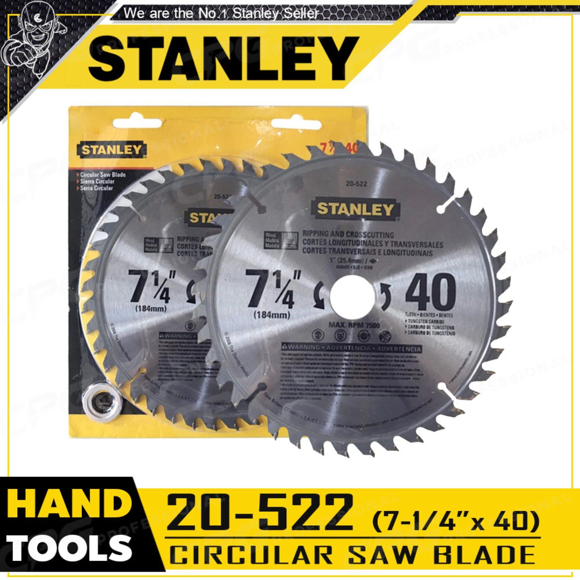 STANLEY ใบเลื่อยวงเดือน 7 1/4 นิ้ว x 40 ฟัน รหัส 20-522 ++ของแท้100%++