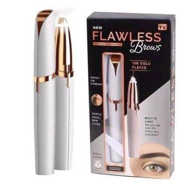 flawless brows เครื่องกันคิ้วไฟฟ้า ที่กันคิ้ว เครื่องกำจัดขน เครื่องถอนขนคิ้วไฟฟ้า เครื่องกำจัดขนไฟฟ้า ที่กันคิ้วไฟฟ้า กันคิ้ว  แต่งหน้า เครื่องตกแต่งขนคิ้ว เครื่องกำจัดขนคิ้ว อุปกรณ์กำจัดขน อุปกรณ์แต่งหน้า Flawless Brows Eyebrow Trimmer Hair Remover
