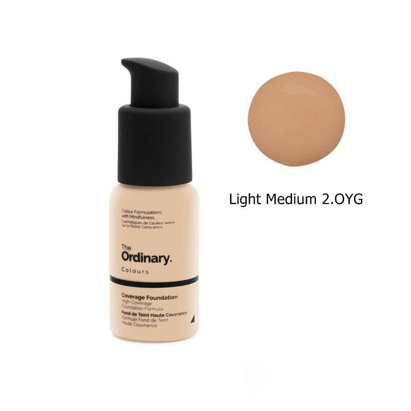 The Ordinary Coverage Foundation SPF 15 สี Light Medium 2.OYG (Light Medium Neutral with yellow undertone and gold highlight) 30ml เหมาะกับผิวปานกลาง