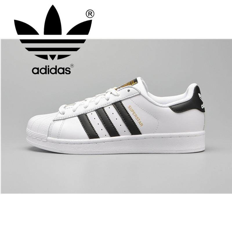 58b9aaf2caf Adidas Clover Sneakers Shellfish Skate Shoes Men's Sneakers Women's Casual  Shoes Gold Logo White Black C771242
