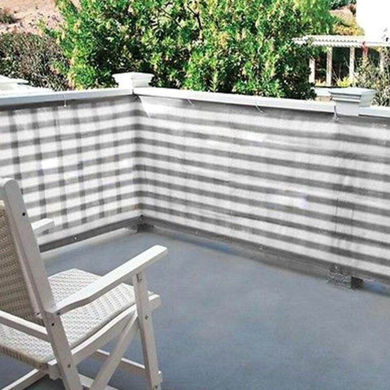 คูปอง Privacy Screen for  Balcony,Backyard Deck, Patio,Fence, Porch Grey&White Stripe Color family : 1x4m
