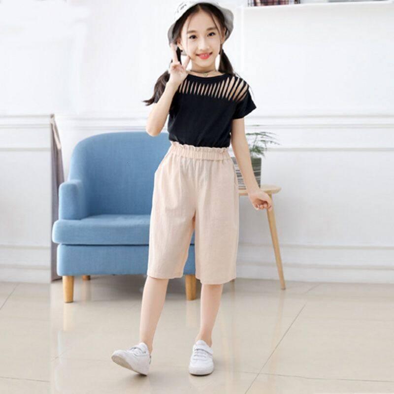 Girls' Capris summer 2020 new fashion children's Shorts Girls' pants thin  children's sports pants A2CK   Lazada