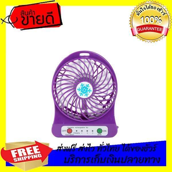 สินค้าใหม่ ลดราคาพิเศษ Just Buy พัดลม Mini Fan รุ่น Fan01 สีม่วง พร้อมส่ง สินค้าจำนวนจำกัด By Wewinforyou.