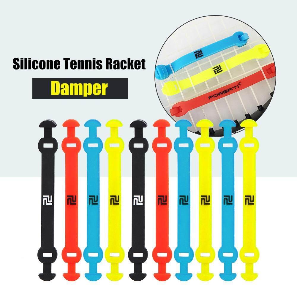 Bảng giá 10Pcs Elastic Tennis Racket Damper Silicone Straps Tennis Racket Vibration Absorbing Shock Reducing Strips
