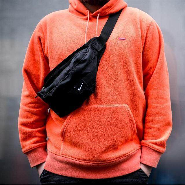 ขายดีมาก! bbsport กระเป๋าคาดอก ไนกี้ NIKE_UNISEX BLACK CHEST BAG ลิขสิทธิ์แท้ ส่งไวkerry!!!