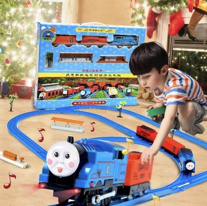 รถไฟกลาง 27ชิ้น ขายถูกที่สุด!! รถไฟโทมัส พร้อมราง มีไฟ มีเสียง เหมือนจริง By Senshopee.