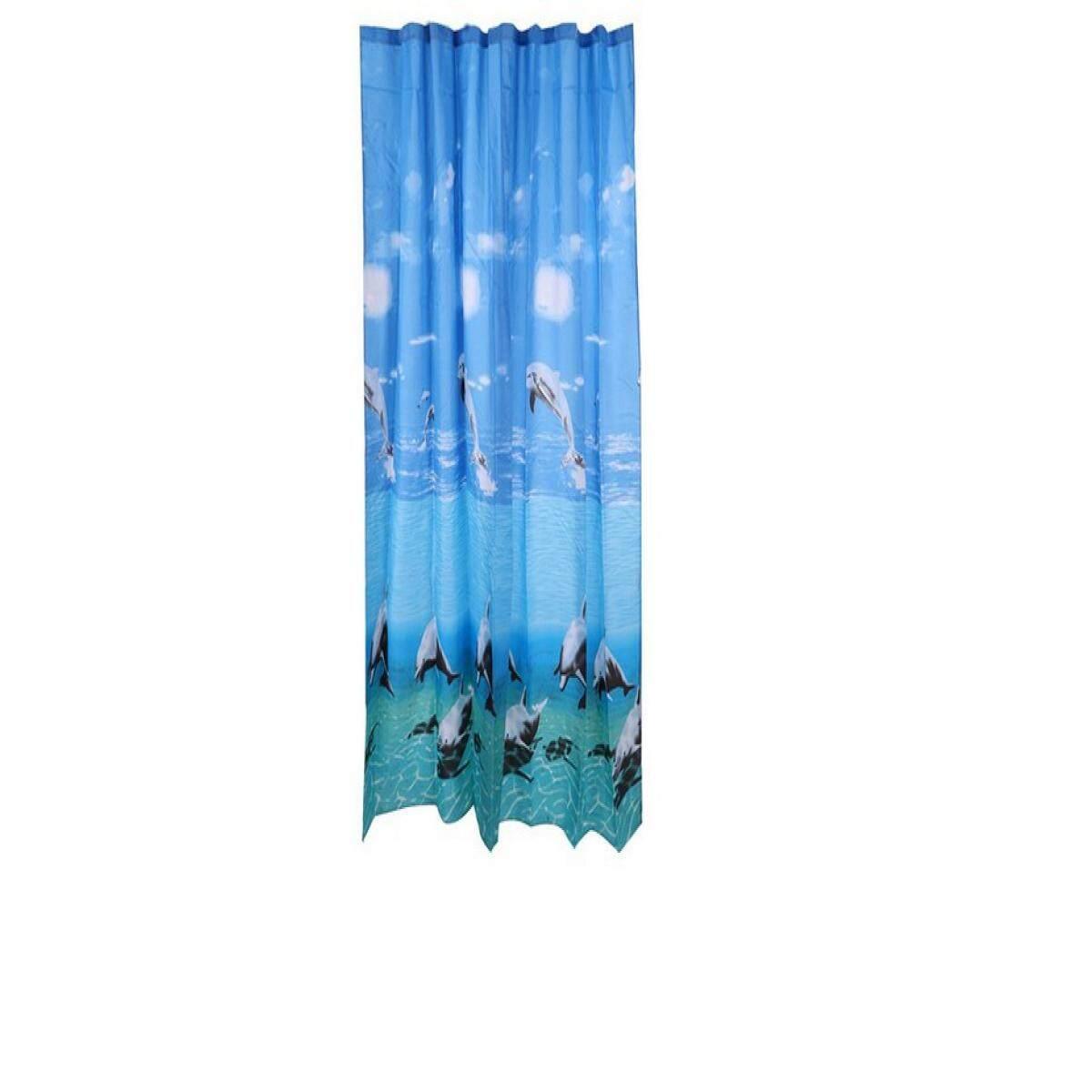 Shower Curtain 180x180 ม่านห้องน้ำ Poly Moya H842 180x180 By The Eight Shop.