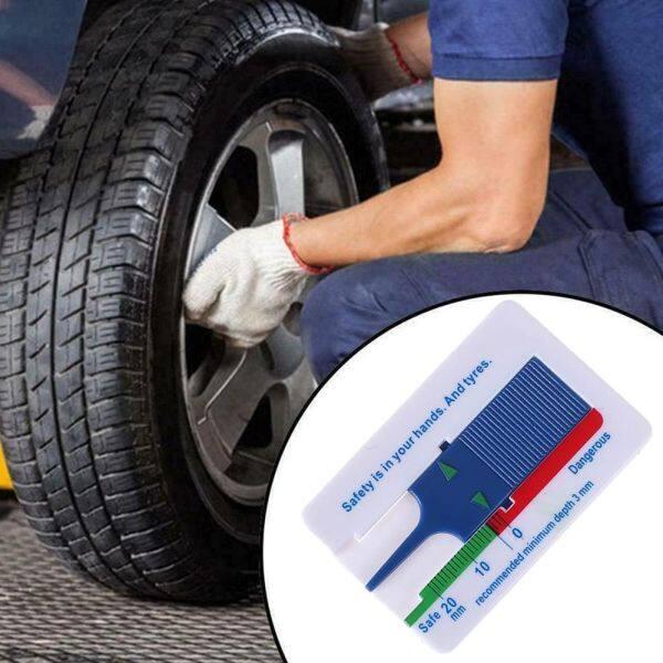CLARINEJI với Keychain Cầm tay Công cụ đo bánh xe 0-20mm Nhựa Công cụ đánh dấu Đo độsâu Chỉ báo độ sâu Độ sâu lốp xe ô tô Thước đo độ sâu mẫu lốp