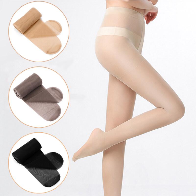 Realtec ถุงน่องเนื้อเนียนแบบเต็มตัว ถุงน่องขาเรียว ถุงน่อง ถุงน่องสีเนื้อ สีดำ ทนทาน ไม่ขาดหรือรันง่าย มีความพอดีตัว สวมใส่สบาย Silk Stockings.