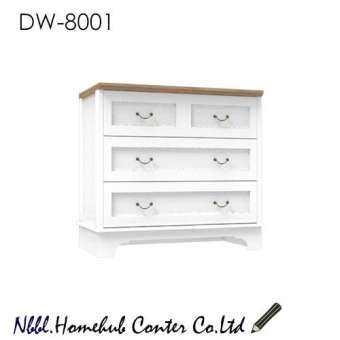 NBBL1.ตู้ลิ้นชัก PRINCESS รุ่น DW-8001 สีขาว/โซลิด-