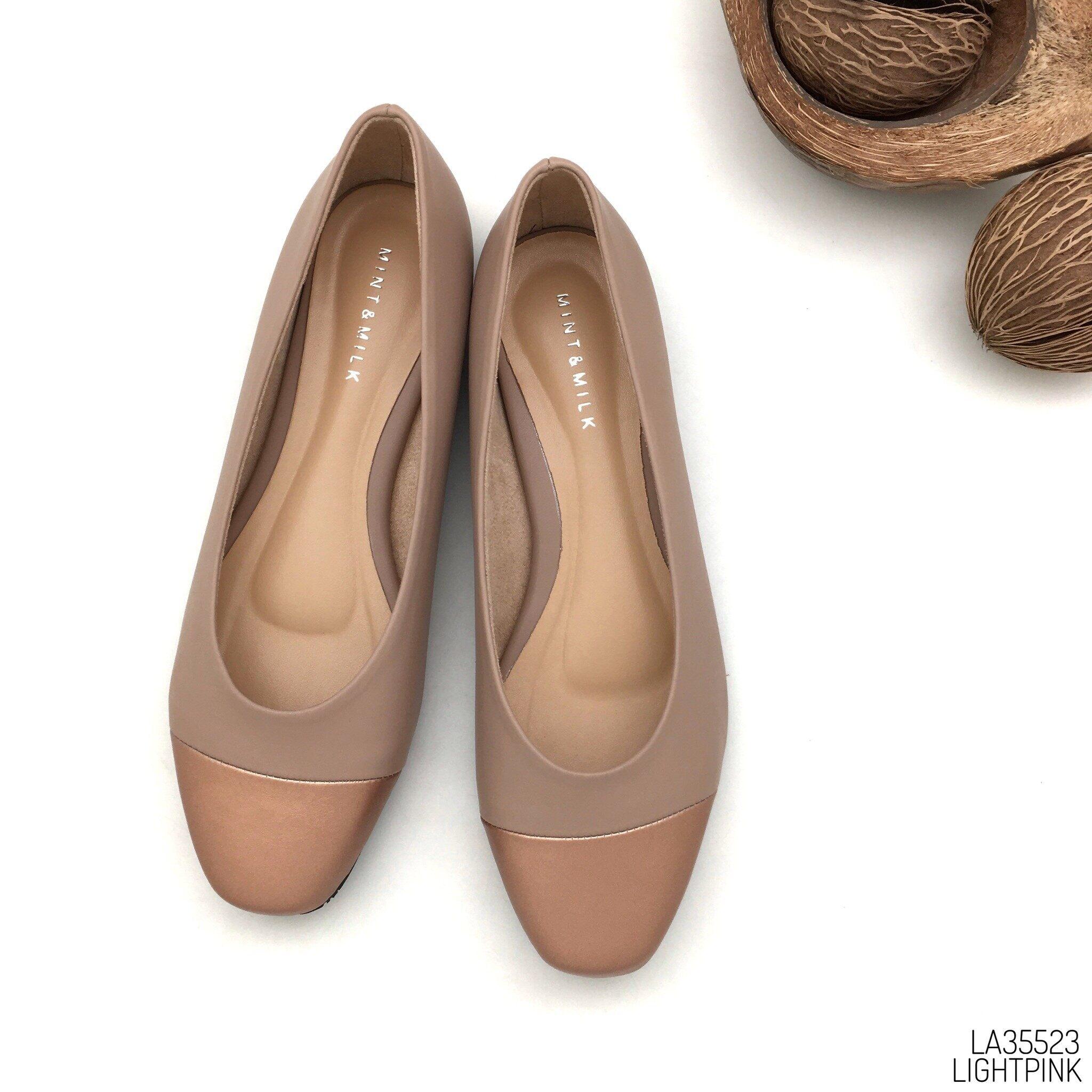 Halobangkok รองเท้า Flat Shoes หนังพียู รุ่น La35523.
